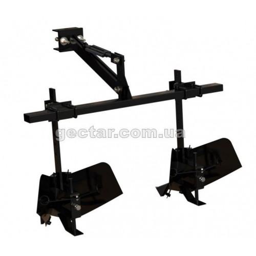 Двухрядный окучник для тяжелого мотоблока со сцепкой