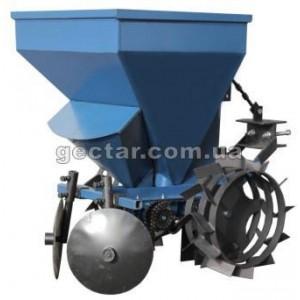 Картофелесажалка с бункером для удобрений для мототрактора КС13